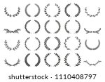 collection of different black... | Shutterstock .eps vector #1110408797