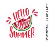 hello sweet summer.... | Shutterstock .eps vector #1110411344