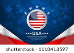 usa background for independence ... | Shutterstock .eps vector #1110413597