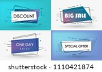 big sale  discount  special... | Shutterstock .eps vector #1110421874