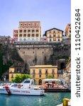 sorrento  italy   may 20  2018  ... | Shutterstock . vector #1110422684