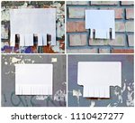 set of blank white paper with... | Shutterstock . vector #1110427277