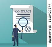 businessman holding magnifying... | Shutterstock .eps vector #1110427379
