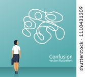 confused thoughts. confusion...   Shutterstock .eps vector #1110431309