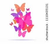vector butterflies background... | Shutterstock .eps vector #1110435131