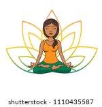 vector doodle illustration of... | Shutterstock .eps vector #1110435587