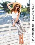 outdoor summer lifestyle... | Shutterstock . vector #1110437684