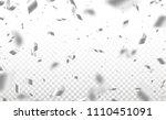 falling shiny silver confetti... | Shutterstock .eps vector #1110451091