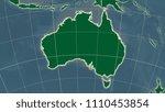 australia area map in the...   Shutterstock . vector #1110453854