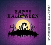 halloween card | Shutterstock .eps vector #111045464