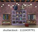 boutique interior 3d...   Shutterstock . vector #1110459791