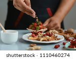 sweet sandwiches with... | Shutterstock . vector #1110460274
