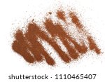 pile cinnamon powder isolated... | Shutterstock . vector #1110465407