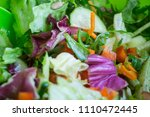 fresh mixed salad with... | Shutterstock . vector #1110472445