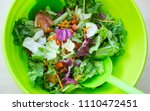fresh mixed salad with... | Shutterstock . vector #1110472451