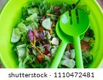 fresh mixed salad with... | Shutterstock . vector #1110472481