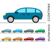generic passenger car colorful... | Shutterstock .eps vector #1110474464
