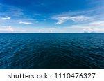 blue seawater with sea foam as... | Shutterstock . vector #1110476327
