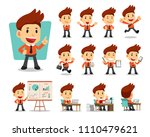 set of vector cartoon character ... | Shutterstock .eps vector #1110479621