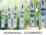 money laundering. money... | Shutterstock . vector #1110484031
