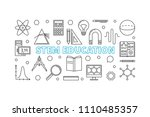 stem education vector... | Shutterstock .eps vector #1110485357