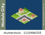 city isometric of urban... | Shutterstock .eps vector #1110486335