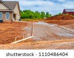 horizontal shot of a driveway...   Shutterstock . vector #1110486404