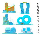 futuristic buildings set.... | Shutterstock .eps vector #1110486995
