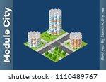 city isometric of urban... | Shutterstock .eps vector #1110489767