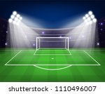 football arena field with... | Shutterstock .eps vector #1110496007