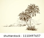 summertime exotic scenic view... | Shutterstock .eps vector #1110497657