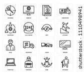 set of 16 icons such as wounded ... | Shutterstock .eps vector #1110498941