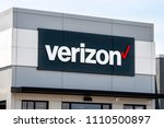 Small photo of FAYETTEVILLE, AR/USA - JUNE 8, 2018: Verizon Wireless retail store and trademark logo. Verizon Wireless is a wholly owned subsidiary of Verizon Communications, Inc.