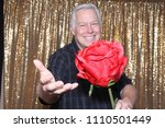 a happy middle aged man in a...   Shutterstock . vector #1110501449