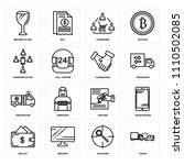 set of 16 icons such as crash ... | Shutterstock .eps vector #1110502085