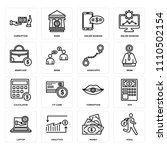 set of 16 icons such as steal ... | Shutterstock .eps vector #1110502154