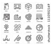 set of 16 icons such as chinese ...
