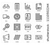 set of 16 icons such as tones ...