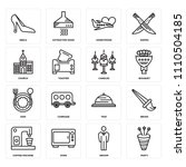 set of 16 icons such as party ...