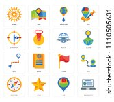 set of 16 icons such as... | Shutterstock .eps vector #1110505631