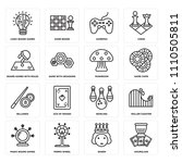 set of 16 icons such as... | Shutterstock .eps vector #1110505811