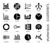 set of 16 icons such as index ...