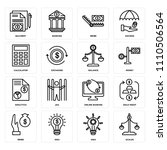 set of 16 icons such as scales  ... | Shutterstock .eps vector #1110506564