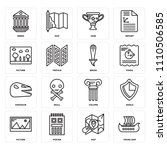 set of 16 icons such as viking...