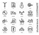 set of 16 icons such as call... | Shutterstock .eps vector #1110506699