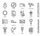 set of 16 icons such as... | Shutterstock .eps vector #1110512324