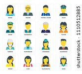 set of 16 icons such as nurse ... | Shutterstock .eps vector #1110512885