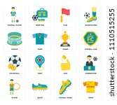 set of 16 icons such as tshirt  ...