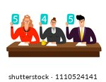 competition jury. contest... | Shutterstock .eps vector #1110524141