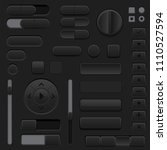 black interface buttons. 3d set ...